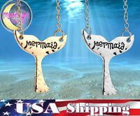 New Mermaid Tail Animal Pendant Metal Silver Gold Color Necklace