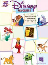 Disney Favorites Five Finger Piano Songbook NEW 000311038