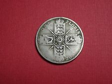 1920 1924 1929 1 One Florin GB Great Britain UK George V  Silver Argent