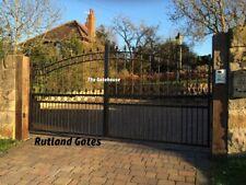 WROUGHT IRON GATE / HEAVY DUTY DRIVEWAY GATE - MADE TO MEASURE - RUTLAND DESIGN