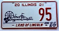 Illinois 2001 Ferris Wheel Old License Plate Garage Special Event County Fair