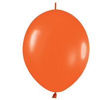 "20ct FASHION ORANGE  Link-o-Loon 12"" Latex Helium Linking Balloons ARCHES ARBORS"