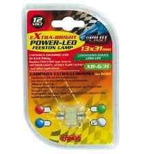 Lampada siluro 6 led 12V 18x31mm SV8,5-8 1PZ D/Blister Blu COD.58422