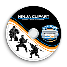 NINJA-NINJAS CLIPART IMAGES-VECTOR CLIP ART-VINYL CUTTER PLOTTER EPS GRAPHICS CD