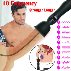Urethral Penis Plug 10 Speeds Vibrator Stimulator Prostate Massager Male Sex Toy
