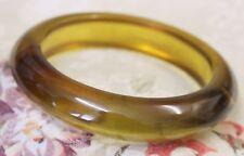 Vintage Bangle Bracelet BAKELITE Yellow Prystal Plastic 40s 50s Jewellery Real