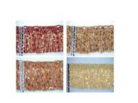 "4 1/4"" Confetti Tassel Fringe Trim Gold Brown Burgundy Salmon Sold By Yard"