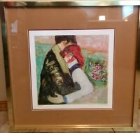 Barbara A. Woods Embrace Lithograph Framed Signed Copy 176/875