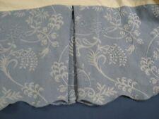 "New ListingWilliamburg Matelasse King Bedskirt Dust Ruffle 14"" scalloped Blue Jc Penney"