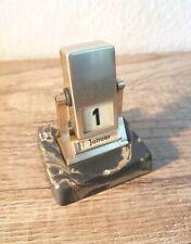 RAR!! Ewiger Kalender Klappzahlen Art Deco Bauhaus Design Drehkalender TOP(J349)