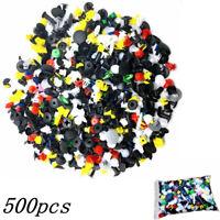 500pc Plastique Voiture Rivet Rembourrage Boue Clip Garniture Panneau Fixation