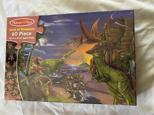 Melissa & Doug Land of Dinosaurs 60 Piece Jigsaw Puzzle new sealed