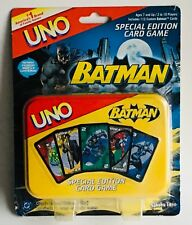 BATMAN UNO Special Edition Card Game in Collectible Tin • NEW on Card!