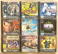 Lot PS1 9 jeux pour console Sony Playstation 1 Cool Boarders, MIB, F1, 007 ...
