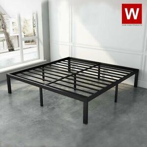 "Heavy Duty King (Standard Size) Steel Bed Frame Metal Platform Beds - Height 14"""