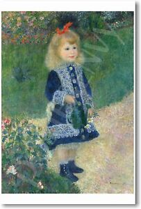 Girl with Watering Can 1876 - August Pierre Renoir - NEW French Art Print POSTER