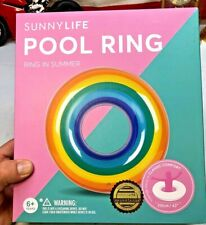 ⭐️Rainbow Pool Ring by Sunnylife Super Cute Inflatable Ring 🌈