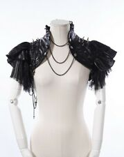 Steampunk Gothic Punk Rave Burlesque Cosplay black shrug bolero jacket by RQBL