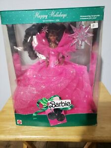 1990 Happy Holidays African American Barbie Doll- Special Edition- Mattel #4543