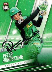 ✺Signed✺ 2018 2019 MELBOURNE STARS BBL Cricket Card PETER HANDSCOMB