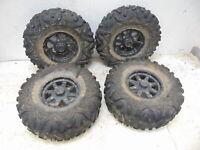 Polaris RZR 900 14 Tires Rims Maxxis Bighorn 27x9R12, 27x12R12