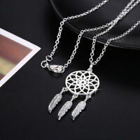 Lovely Wholesale 925 Sterling Silver Filled Hollow Dreamcatcher Pendant Necklace
