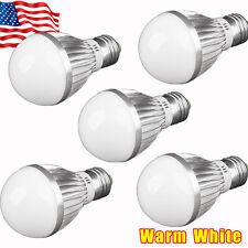 New 5 X Warm White  E27 5W Home LED Lamp Bulbs Energy Saving AC 85-265V 110V US