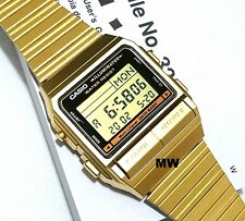CASIO VINTAGE DB-380G-1 DATA BANK DIGITAL GOLDEN WATCH NEW OLD SKOOL CLASSIC-NEW
