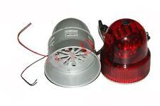 New Red Flash Revolving Signal Warning Light With Siren Warning Horn 12 Volt