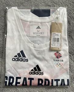 Adidas Team GB Mens Running Vest Tank Shirt - Size Medium 40/42 Bnwt