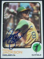 VINTAGE! 1973 Topps Reggie Jackson Signed Autographed Baseball Card JSA AH LOA!