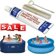 More details for inflatable spa & hot tub repair kit under water glue purespa lay z pools set uk