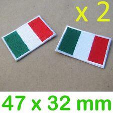 2 x Iron on Patches italia italy for fan ducati moto guzzi ferrari vespa piaggio