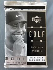 Sealed 2001 Upper Deck Promo Pack National Convention Tiger Woods Heroes of Golf