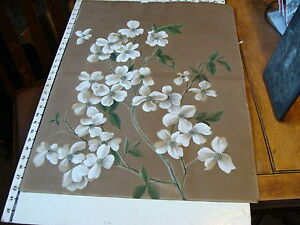 Vintage 1800's PAINTING: DOGWOOD FLOWERS