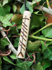 Wild Rose Wood Love Charm Ogham pendant - Pagan, Wicca, Ogam, Gaelic, Celtic