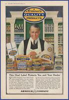 Vintage 1917 ARMOUR Quality Products Food Kitchen Art Decor Ephemera Print Ad
