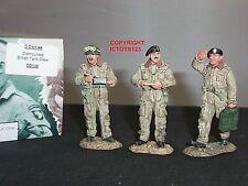 King and country DD136 Británico Tanque tripulación desmonta una Metal Conjunto figura soldado de juguete