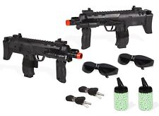 Tactical Mini Uzi SMG Spring Airsoft Rifle Gun w/ 2000 6mm bbs - 2 Pack Combo