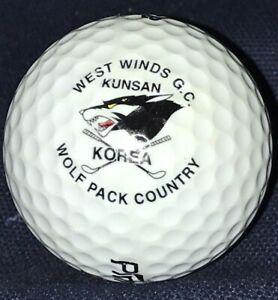 West Winds Golf Course Korea Logo Golf Ball Wolf Pack Country