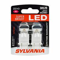 Sylvania Zevo 3057 Red LED Bright Interior Exterior Mini Light Bulb Set, 2 Pack
