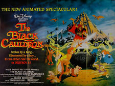 BLACK CAULDRON 1985 Walt Disney Ted Berman Richard Rich UK QUAD POSTER