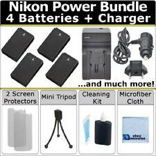 4 EN-EL20 ENEL20 Battery + Home/Car Charger for Nikon 1 J1 1 J2 1 J3 + Kit