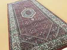 "2'.8"" X 6'.1"" Super Bijar Persian Oriental Rug Runner Hand Knotted Wool & Silk"