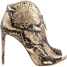 $139 Guess Conroe Zippered Booties Snake Print Single Sole Size 8.5