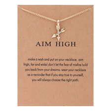 Sparkling Aim High Crossing Arrows Reminder Necklace