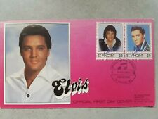 ELVIS PRESLEY St VINCENT FIRST DAY OF ISSUE STAMPS (Pink)