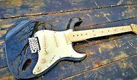 Classic black Mahogany Guitar Body Mahogany Fat Strat Body H-S-S fits Fender