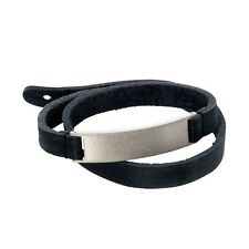 COLANTOTTE MAGTITAN GRANGE Leather + Titanium Bracelet from Japan Official Black