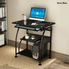 PC Corner Computer Desk Home Office Laptop Table Workstation Furniture Black